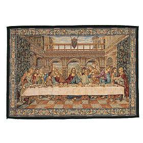 Arazzo ispirato all'Ultima Cena di Leonardo da Vinci 45x65 cm s1
