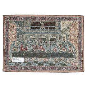 Arazzo ispirato all'Ultima Cena di Leonardo da Vinci 45x65 cm s2
