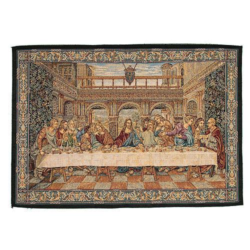 Arazzo ispirato all'Ultima Cena di Leonardo da Vinci 45x65 cm 1