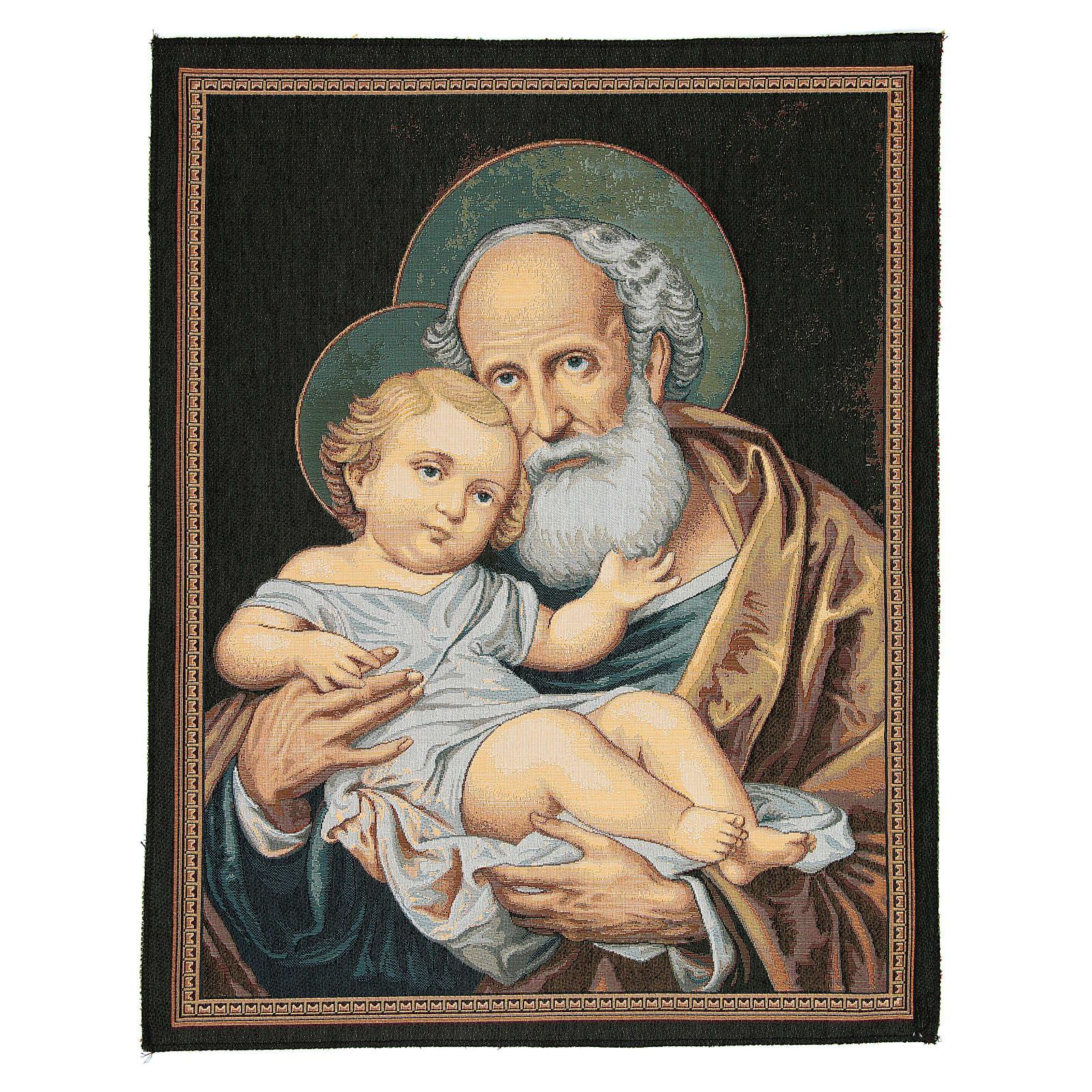 Wandteppich Heiliger Josef 65x50cm 3