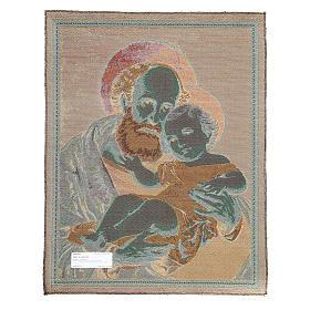Wandteppich Heiliger Josef 65x50cm s2