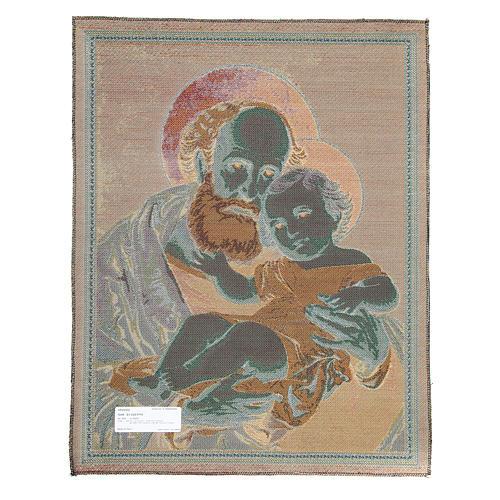 Wandteppich Heiliger Josef 65x50cm 2