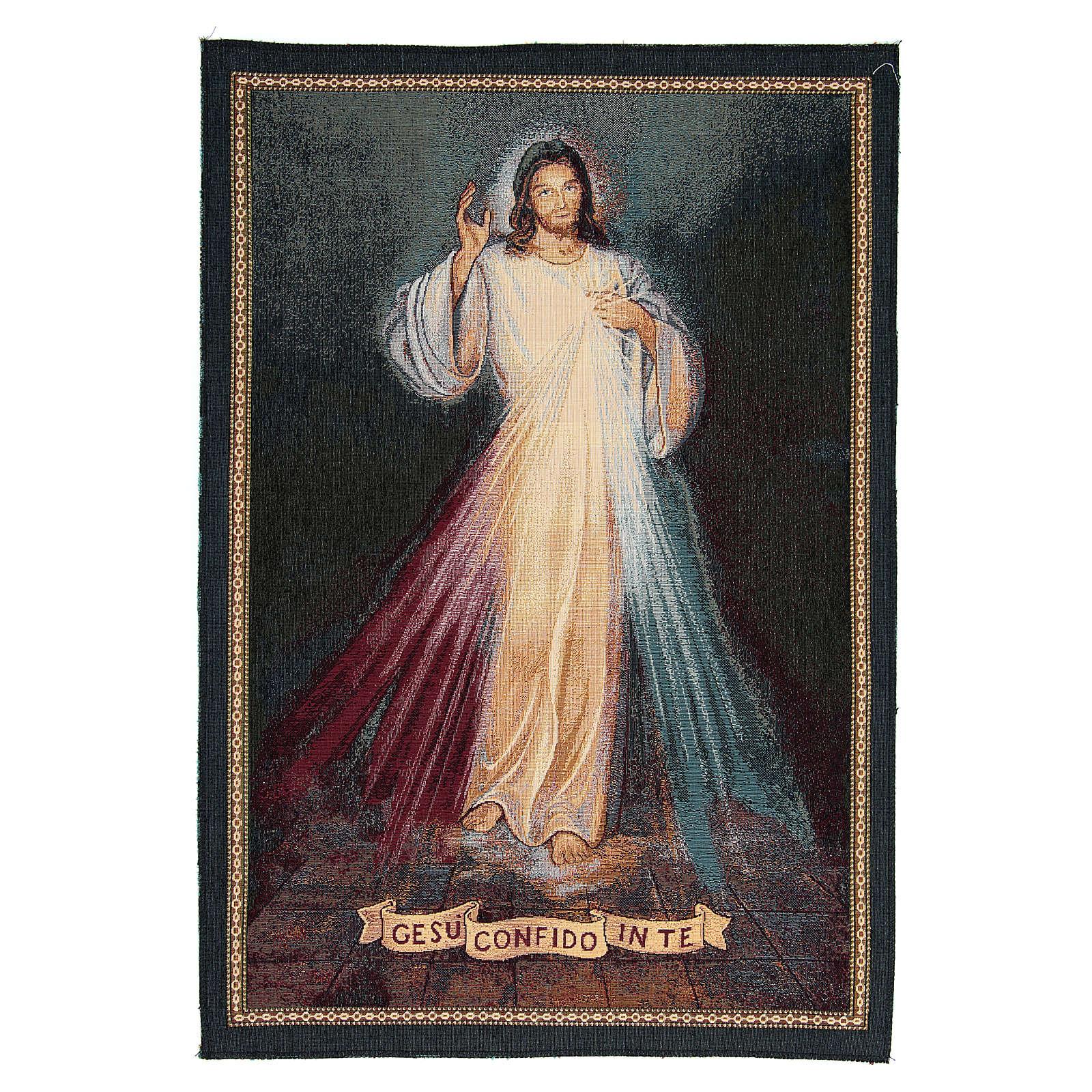 Arazzo ispirato a Gesù Confido in te cm 65x45 3