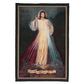 Arazzo ispirato a Gesù Confido in te cm 65x45 s1