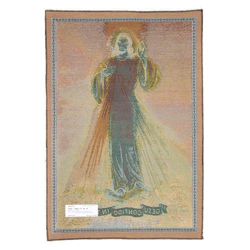 Tapeçaria de Cristo Misericordioso 65x45 cm 2