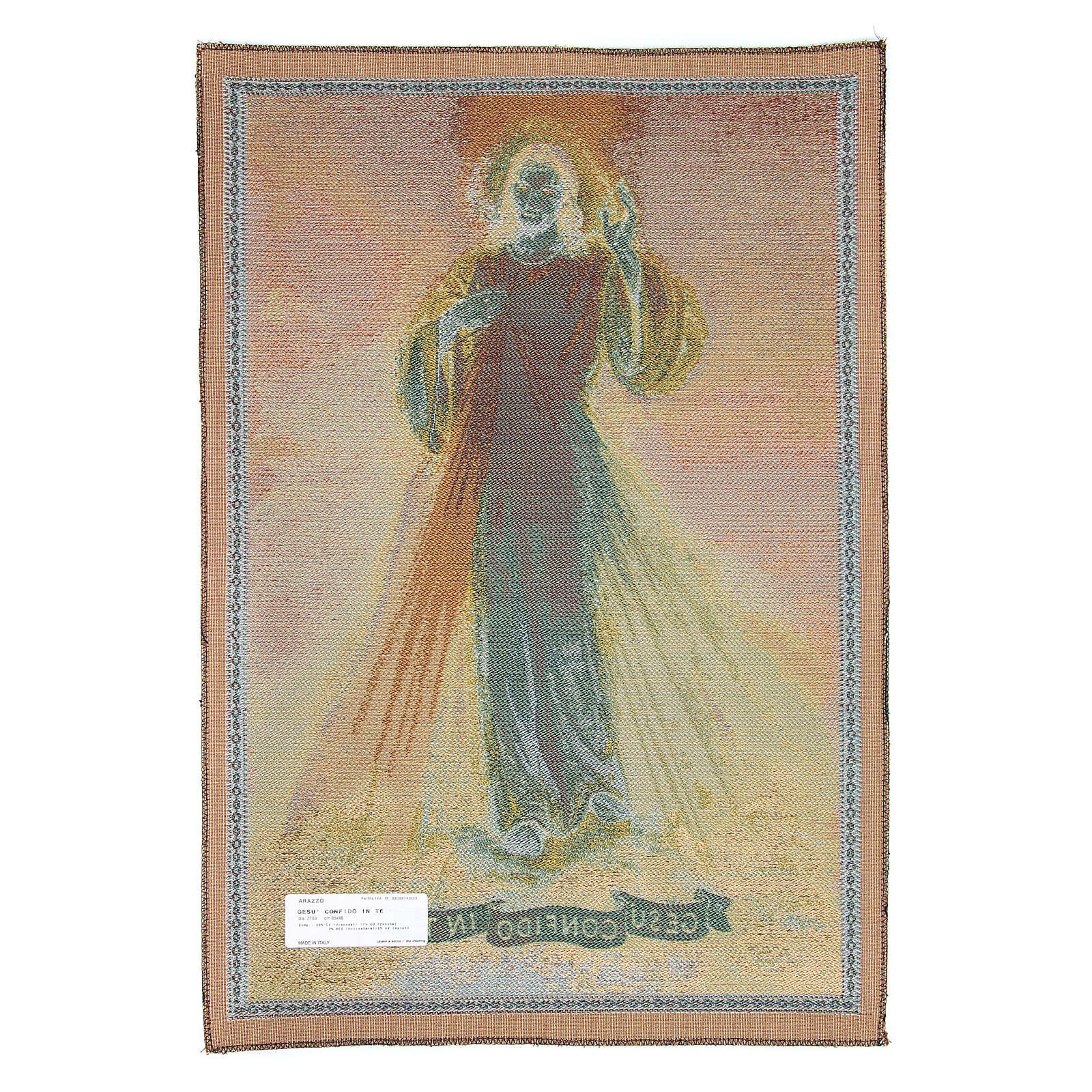 Tapestry Jesus I confide in you inspiration 65x45 cm 3