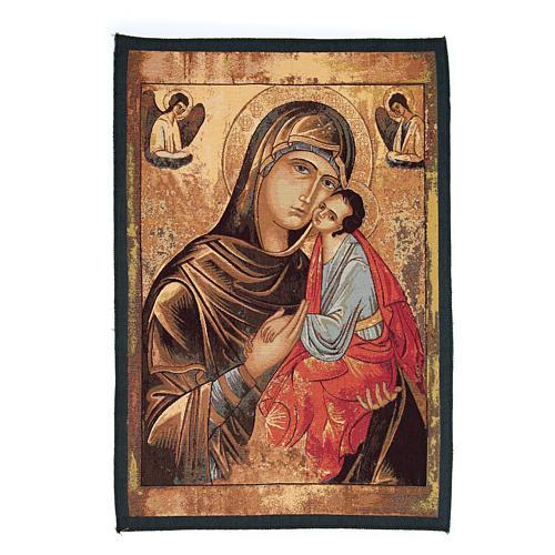 Arazzo icona Madonna Passione cm 65x45 1