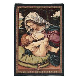 Arazzo Madonna del Cuscino di Andrea Solario cm 65x45 s1