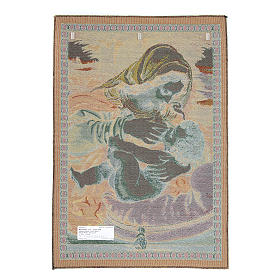 Arazzo Madonna del Cuscino di Andrea Solario cm 65x45 s2