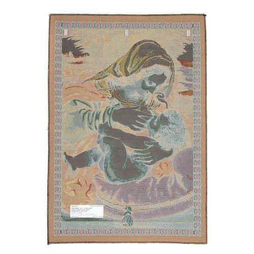 Arazzo Madonna del Cuscino di Andrea Solario cm 65x45 2