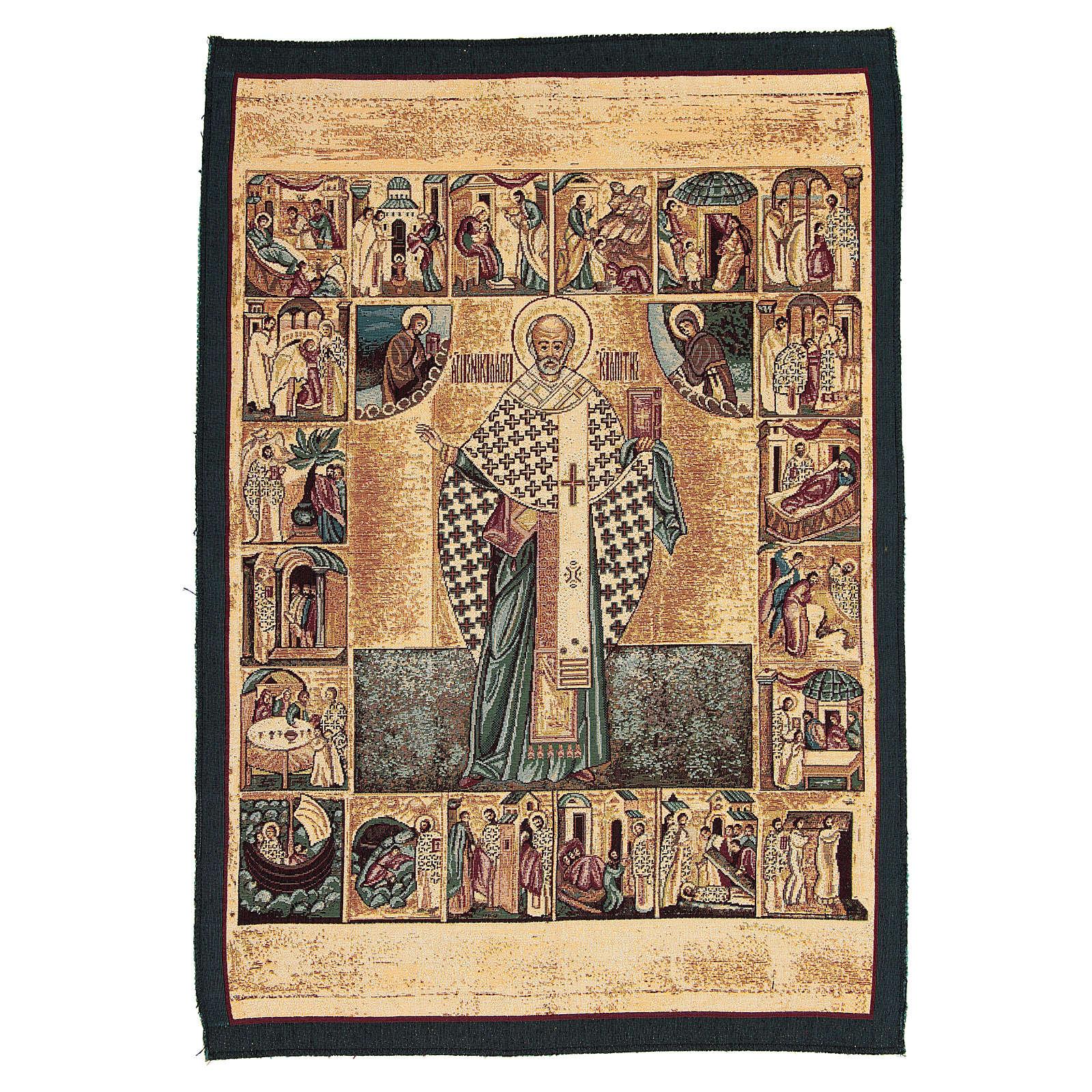 Saint Nicholas tapestry measuring 65x50cm 3