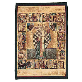 Tapisserie Saint Nicolas de Myre 65x45 cm s1