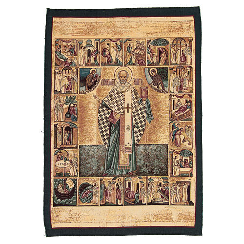 Tapisserie Saint Nicolas de Myre 65x45 cm 1