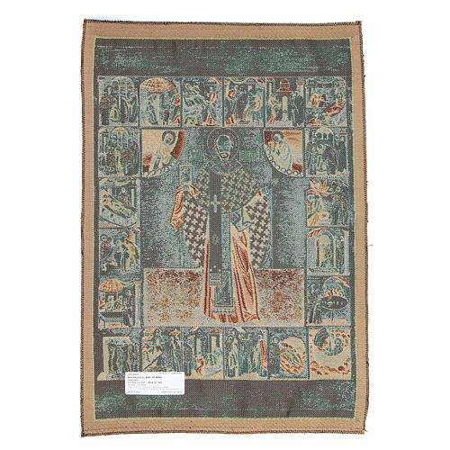 Saint Nicholas tapestry measuring 65x50cm
