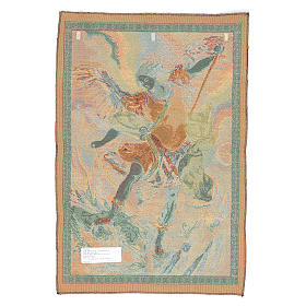 Arazzo San Michele Arcangelo di Guido Reni cm 65x45 s2