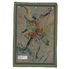 Arazzo San Michele Arcangelo di Guido Reni cm 65x45 s3