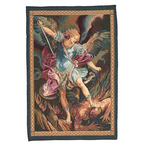 Arazzo San Michele Arcangelo di Guido Reni cm 65x45 1