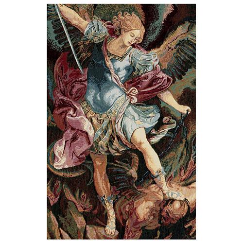 Arazzo San Michele Arcangelo di Guido Reni cm 65x45 2