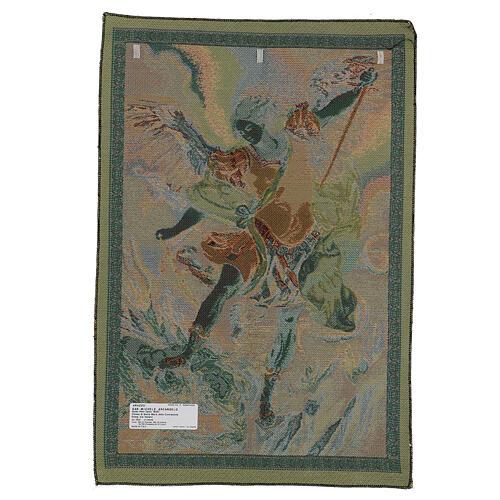 Arazzo San Michele Arcangelo di Guido Reni cm 65x45 3