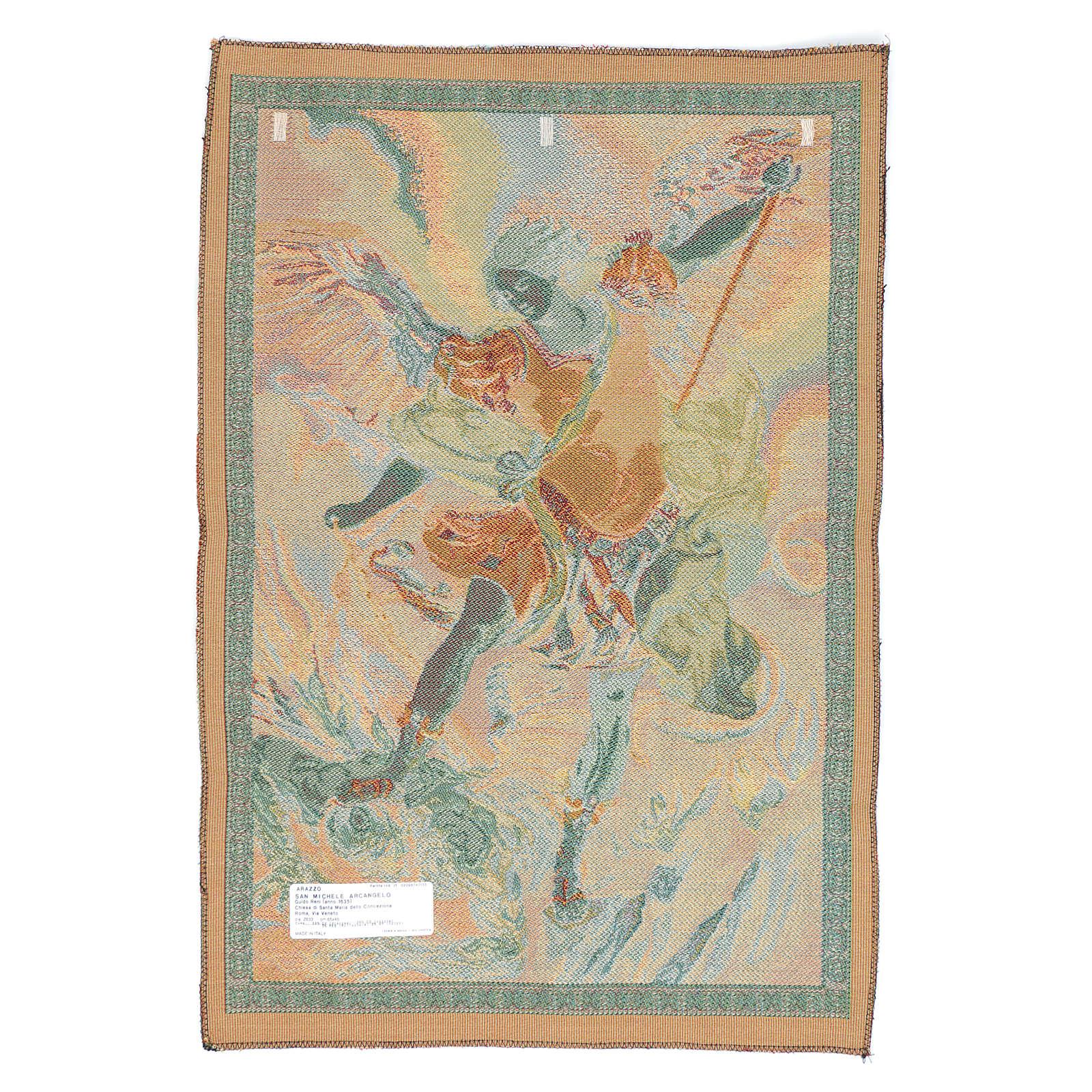 Tapeçaria São Miguel Arcanjo de Guido Reni 65x46 cm 3
