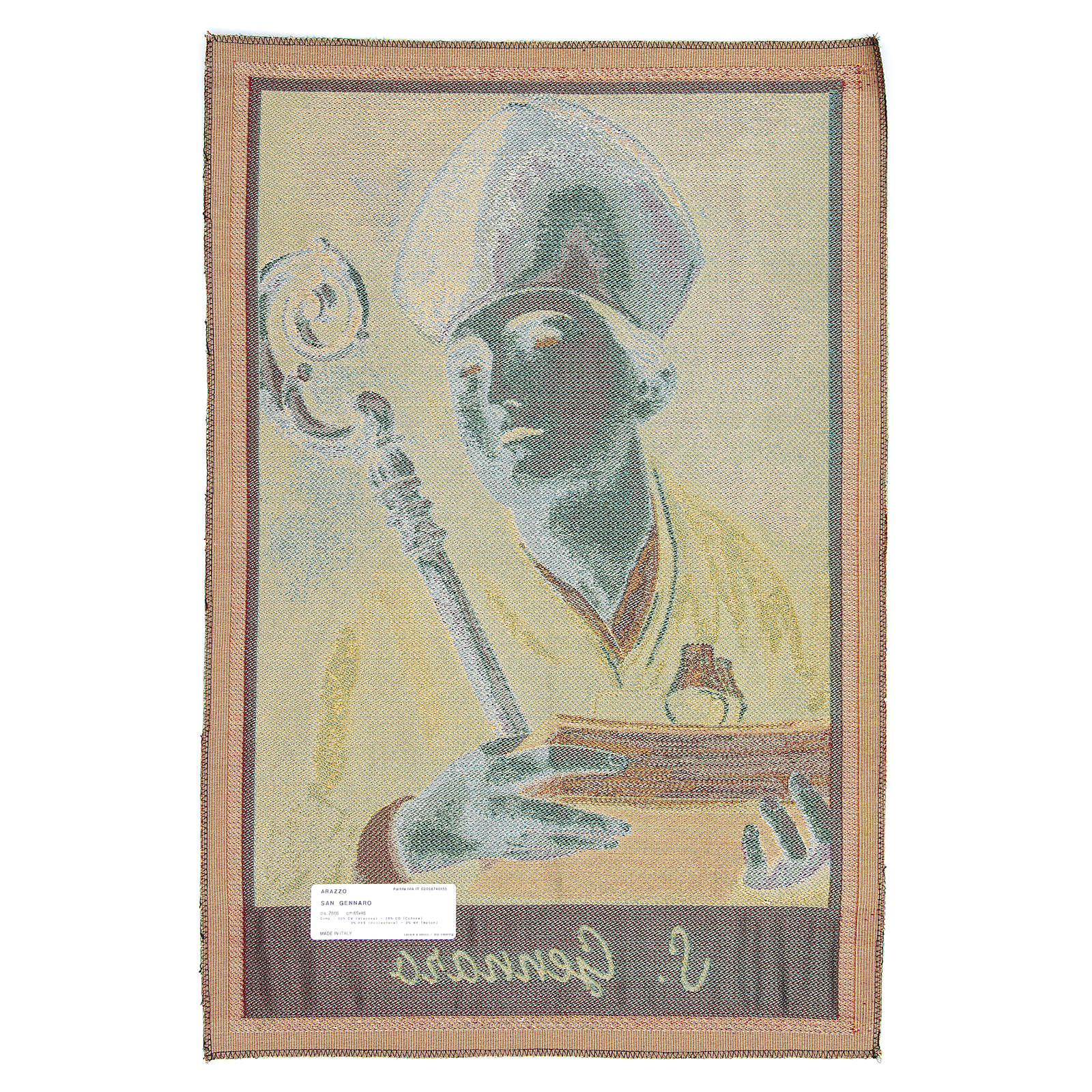 Saint Januarius tapestry measuring 65x45cm 3