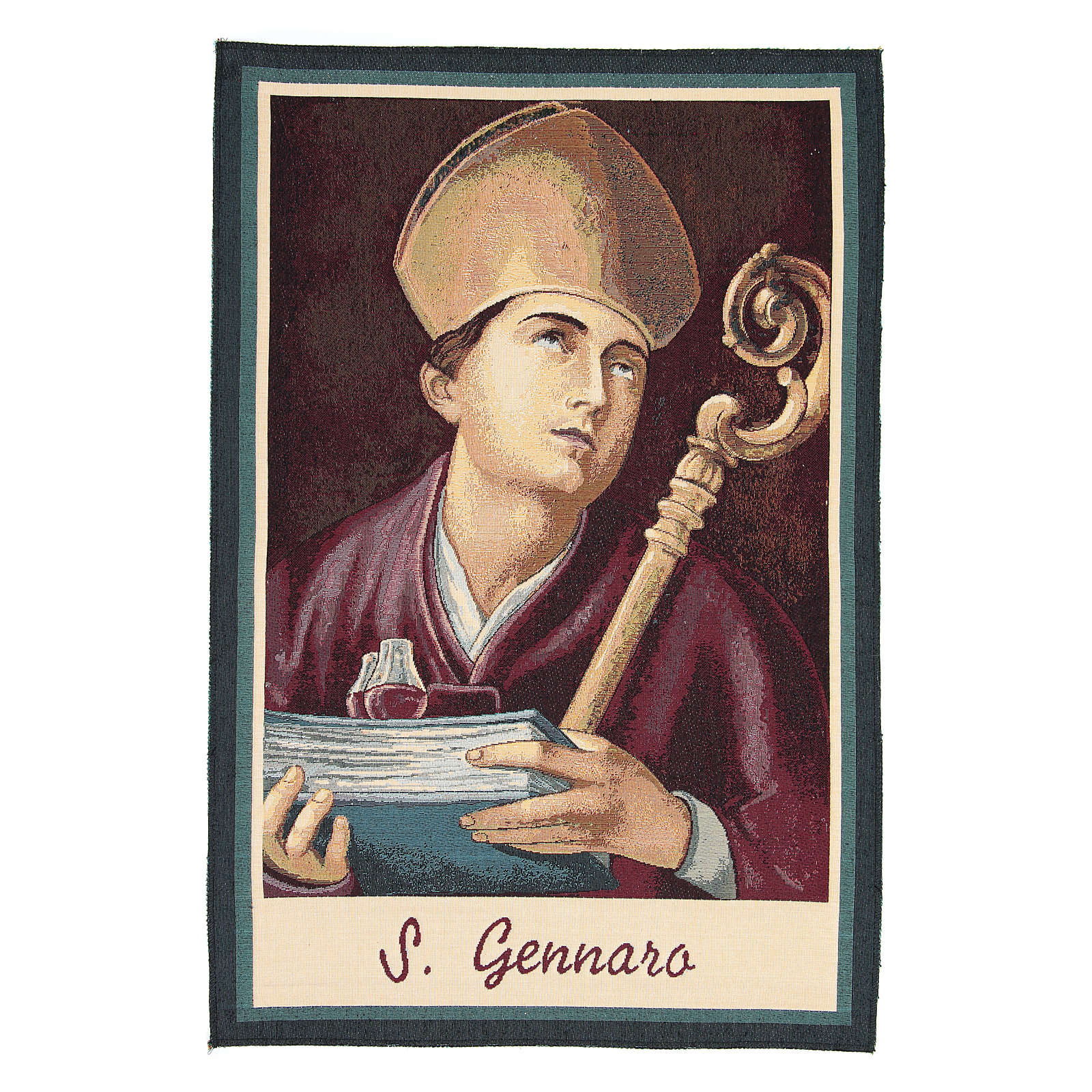 Saint Januarius tapestry measuring 65x45cm 3