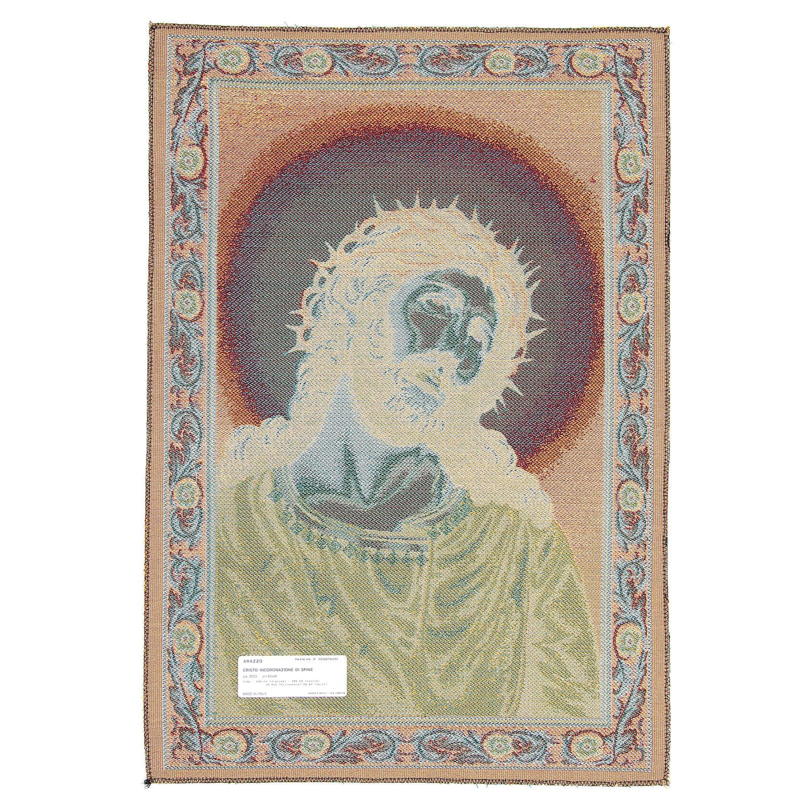 Wandteppich Christus mit der Dornenkrone 65x45 cm 3