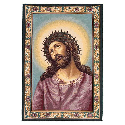 Wandteppich Christus mit der Dornenkrone 65x45 cm 1