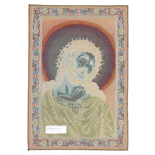 Wandteppich Christus mit der Dornenkrone 65x45 cm 2