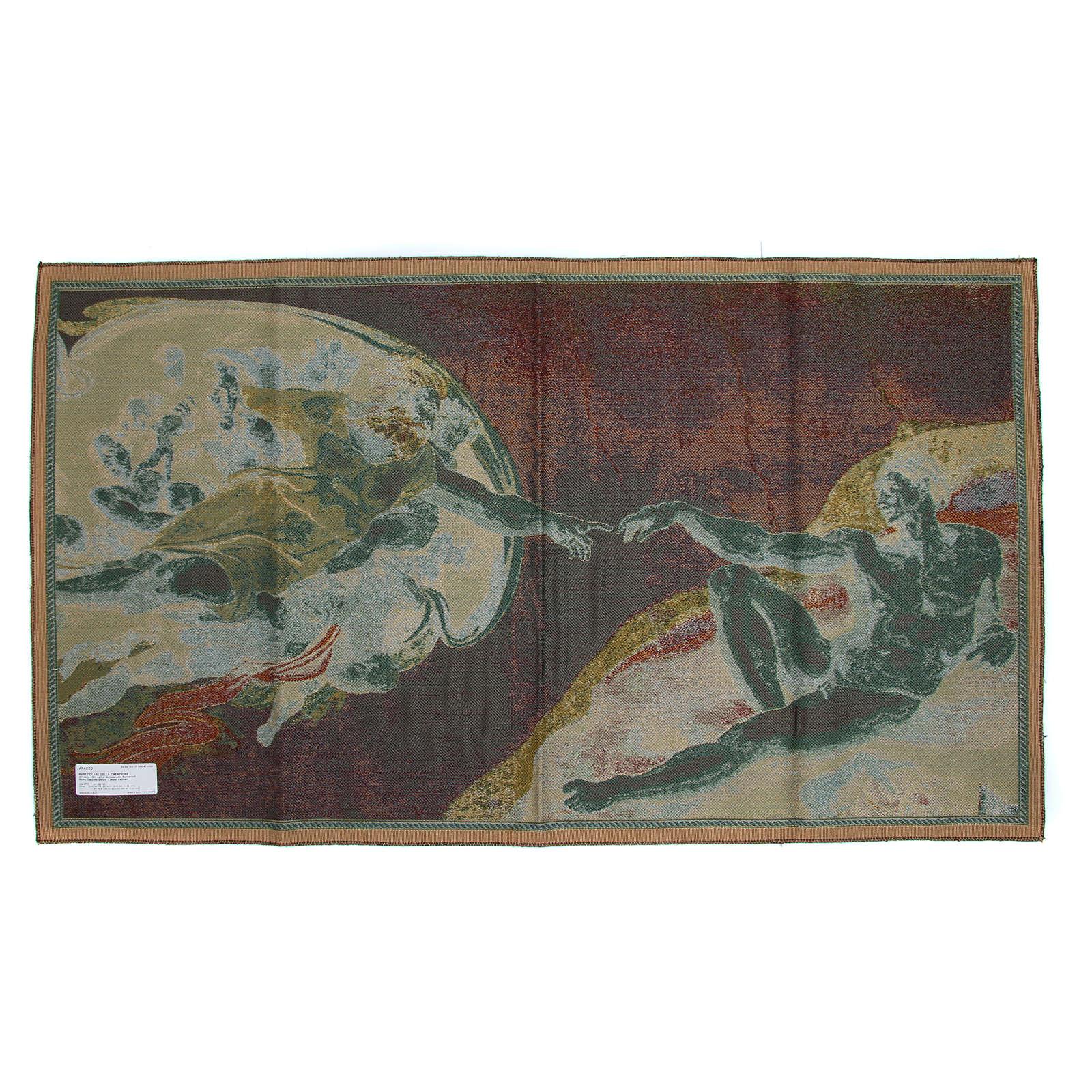 Arazzo Creazione Affresco di Michelangelo Buonarroti cm 65x125 3