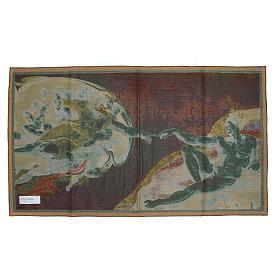 Tapeçaria Criação do Homem afresco de Michelangelo 65x125 cm s2
