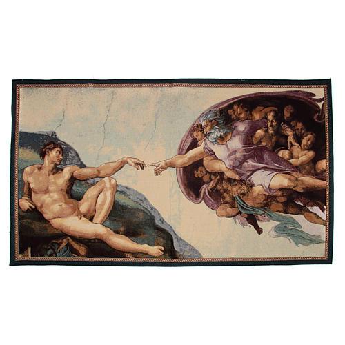 Tapeçaria Criação do Homem afresco de Michelangelo 65x125 cm 1