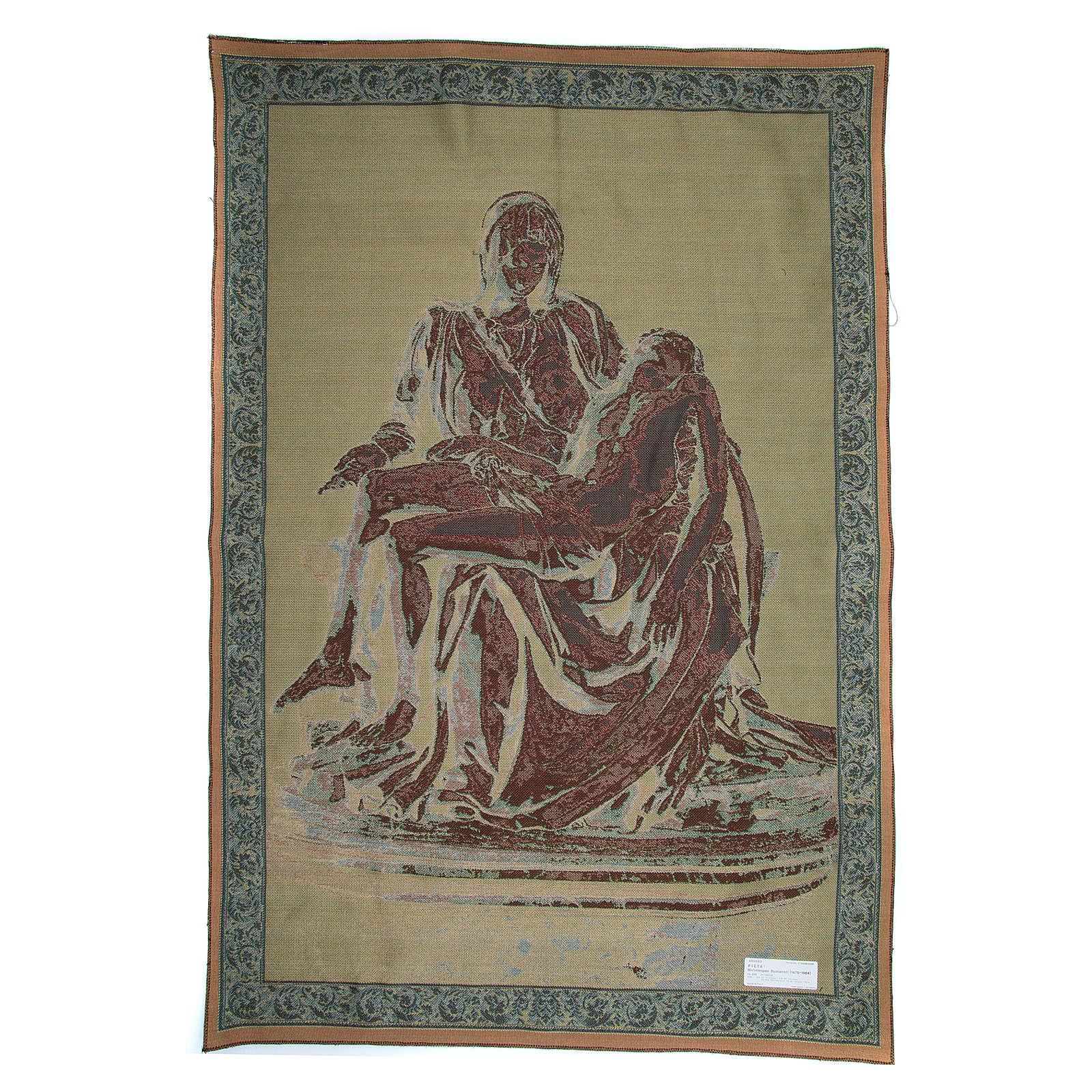Arazzo Pietà di Michelangelo Buonarroti cm 140x100 3