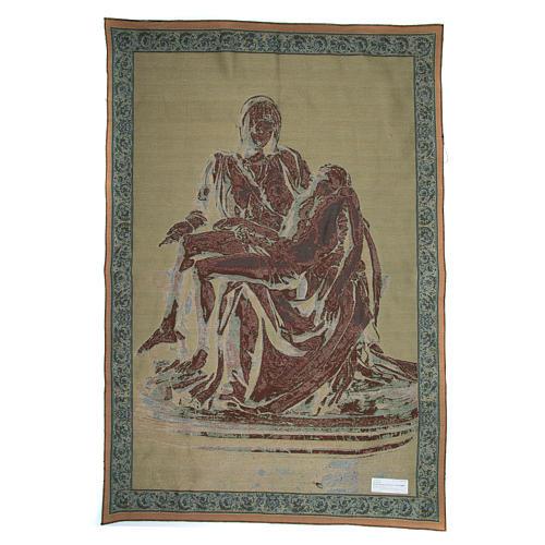 Arazzo Pietà di Michelangelo Buonarroti cm 140x100 2
