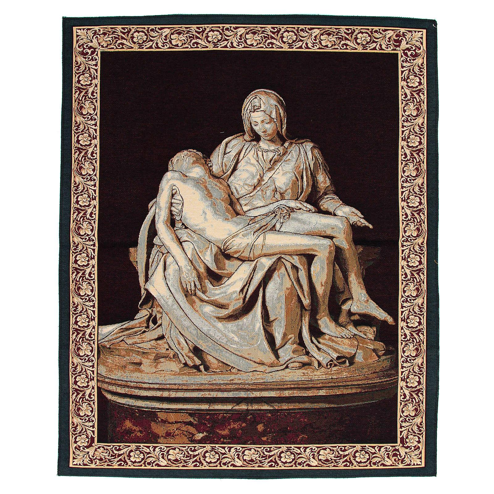 Tapiz inspirado a La Piedad de Miguel Angel cm 85 x 65 3
