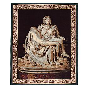 Tapiz inspirado a La Piedad de Miguel Angel cm 85 x 65 s1