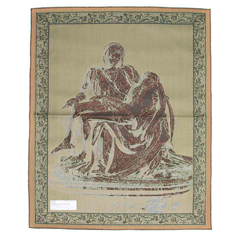 Tapiz inspirado a La Piedad de Miguel Angel cm 85 x 65 2
