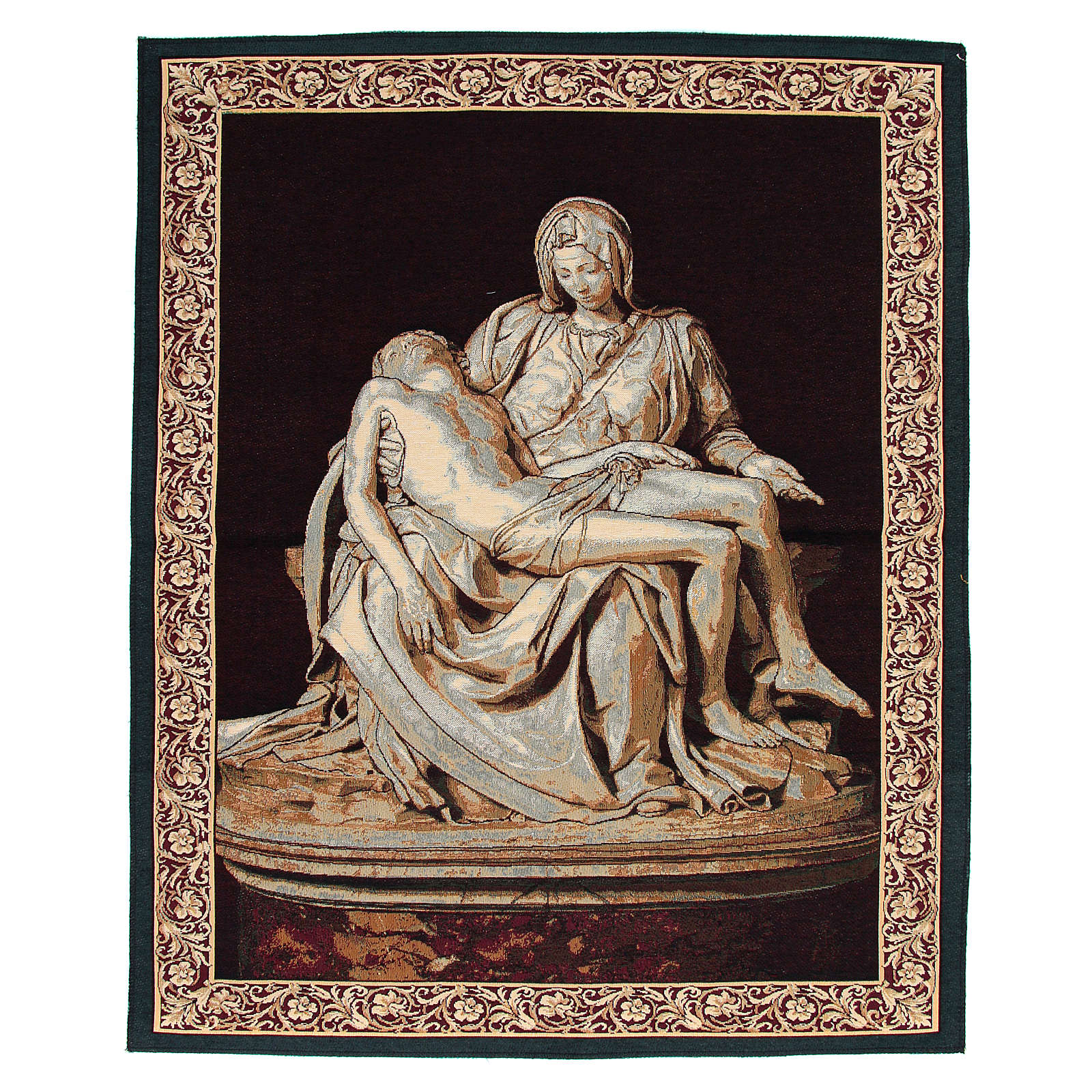 Arazzo ispirato alla Pietà di Michelangelo cm 85x65 3