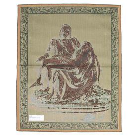 Arazzo ispirato alla Pietà di Michelangelo cm 85x65 s2