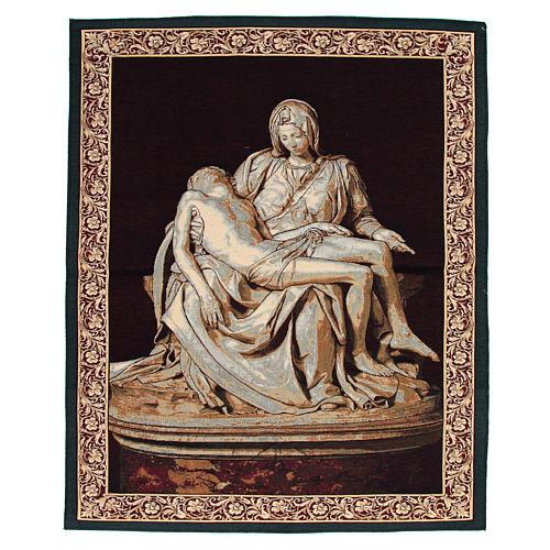 Arazzo ispirato alla Pietà di Michelangelo cm 85x65 1