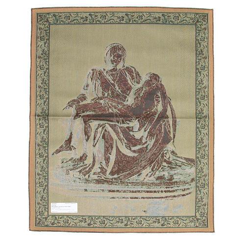 Arazzo ispirato alla Pietà di Michelangelo cm 85x65 2