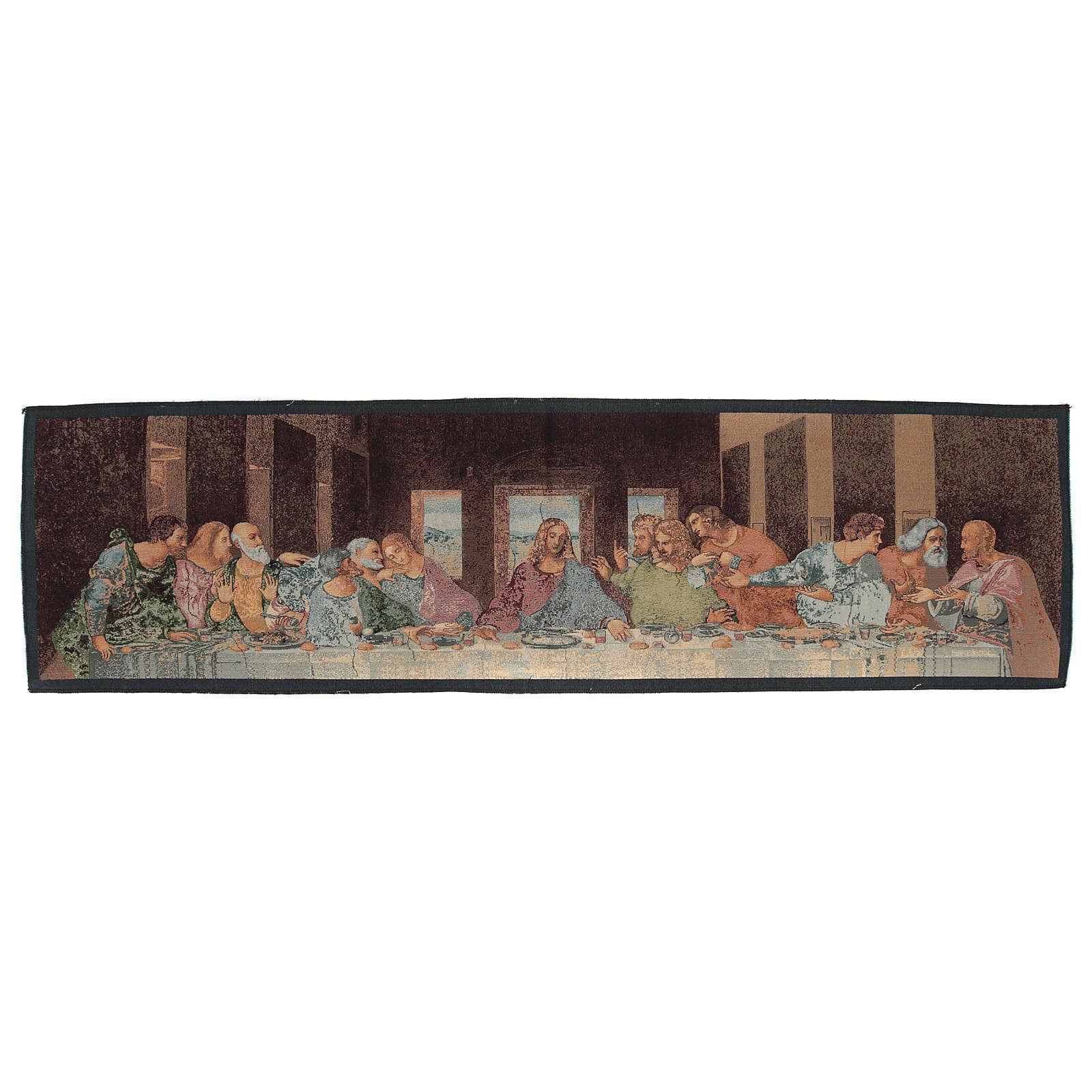 Arazzo ispirato all'Ultima Cena di Leonardo Da Vinci cm 30x130 3