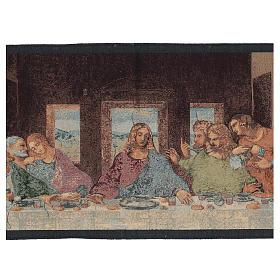 Arazzo ispirato all'Ultima Cena di Leonardo Da Vinci cm 30x130 s2