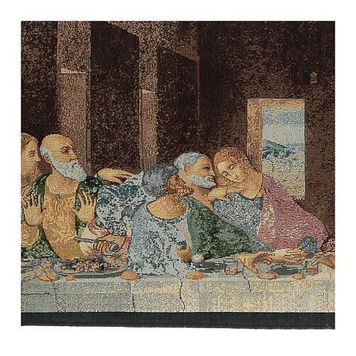 Arazzo ispirato all'Ultima Cena di Leonardo Da Vinci cm 30x130 2