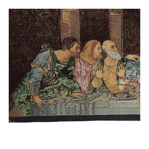 Arazzo ispirato all'Ultima Cena di Leonardo Da Vinci cm 30x130 4