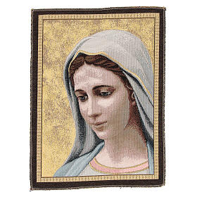 Our Lady of Medjugorje tapestry measuring 30x45cm s1