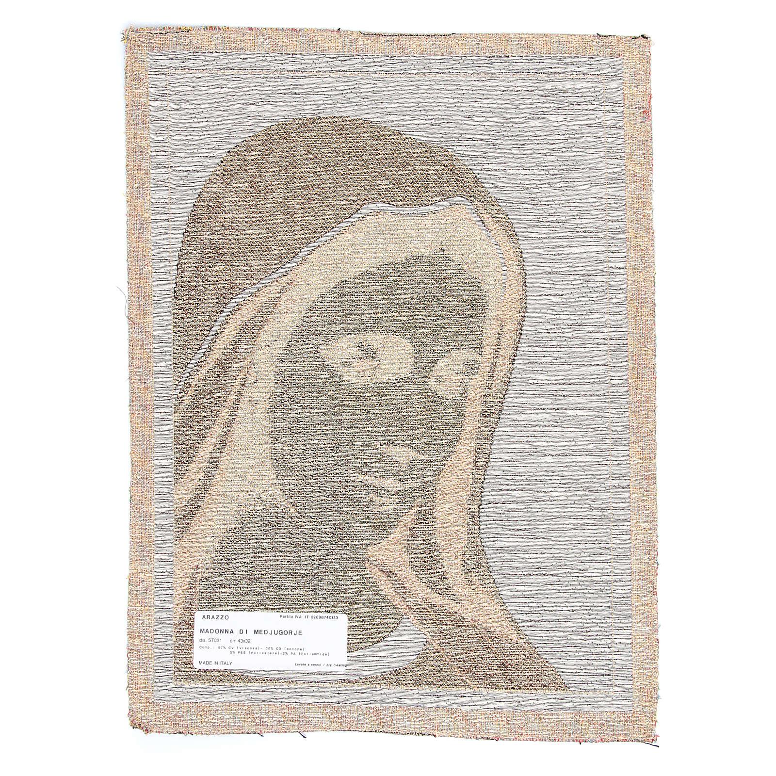 Tapiz Virgen de Medjugorje 30 x 45 cm 3