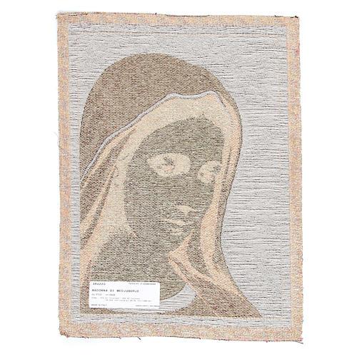 Tapiz Virgen de Medjugorje 30 x 45 cm 2