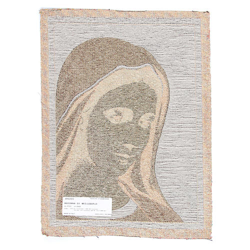Our Lady of Medjugorje tapestry measuring 30x45cm 2