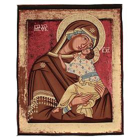 Arazzo Madonna Madre di Dio della Tenerezza cm 90x70 s1